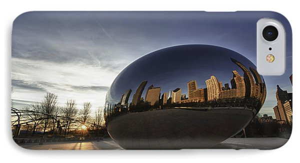 Cloud Gate At Sunrise IPhone Case by Sebastian Musial