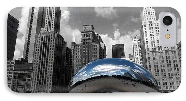 Cloud Gate B-w Chicago IPhone Case by David Bearden