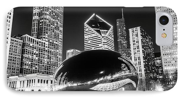Cloud Gate Chicago Bean Black And White Picture IPhone Case