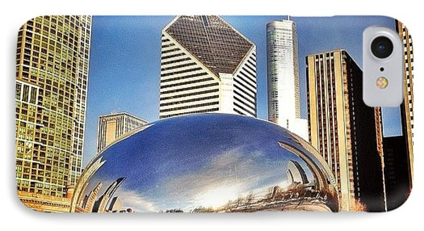 Cloud Gate chicago Bean Sculpture IPhone Case by Paul Velgos