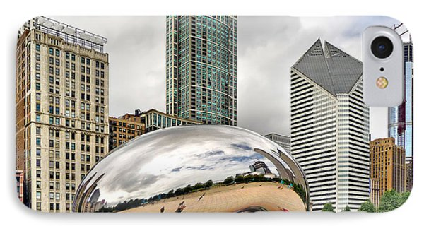 IPhone Case featuring the photograph Cloud Gate In Chicago by Mitchell R Grosky