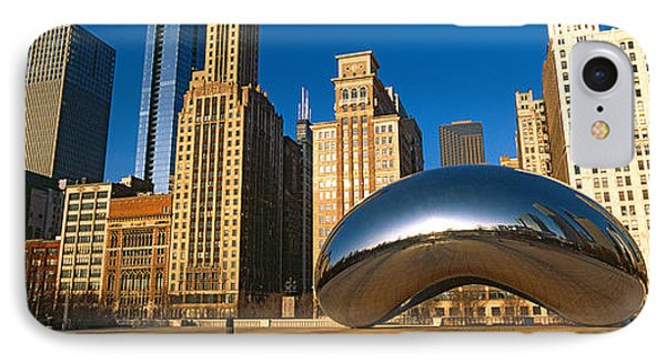 Cloud Gate Sculpture With Buildings IPhone Case
