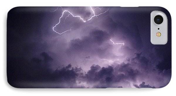 Cloud Lightning IPhone Case by James Peterson