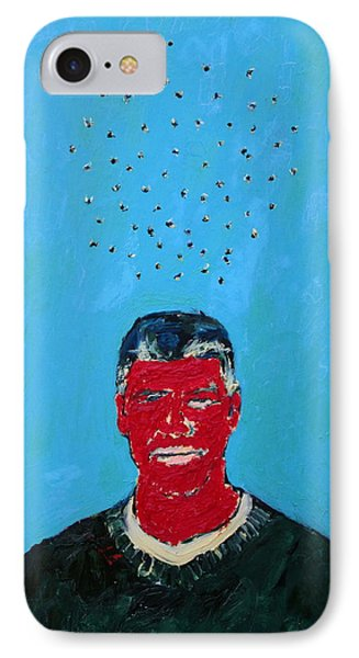 Cloud Of Flies Over Red George Phone Case by Fabrizio Cassetta
