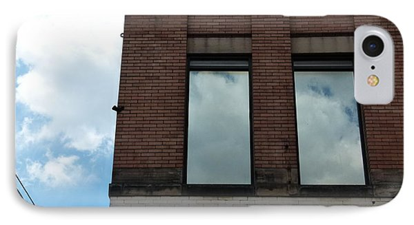 Cloud Reflection On Window IPhone Case by Jane Ford