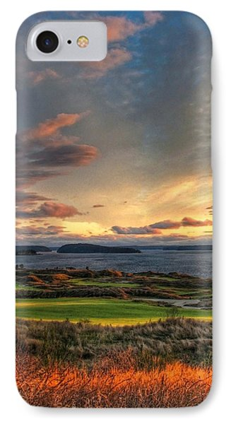 Cloud Serenity - Chambers Bay Golf Course IPhone Case by Chris Anderson