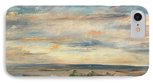 Cloud Study, Early Morning, Looking East From Hampstead IPhone Case by Litz Collection