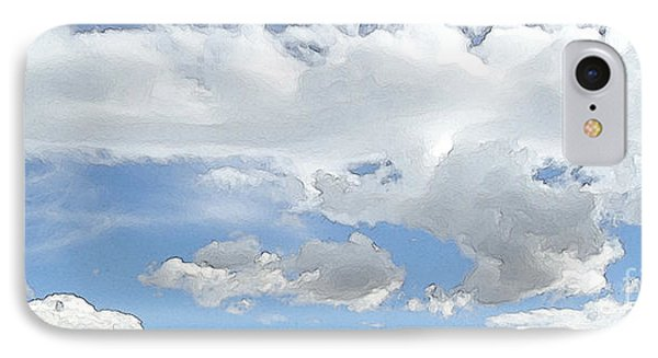 IPhone Case featuring the photograph Cloud Topography Blue by Ann Johndro-Collins