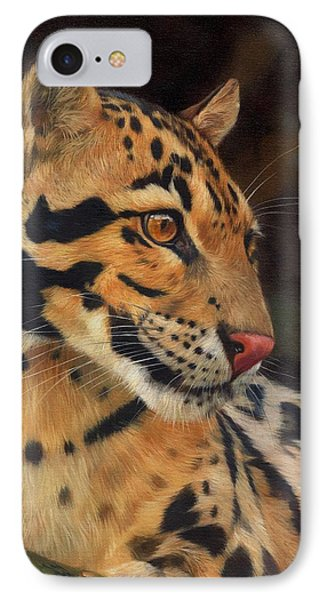 Clouded Leopard IPhone Case by David Stribbling