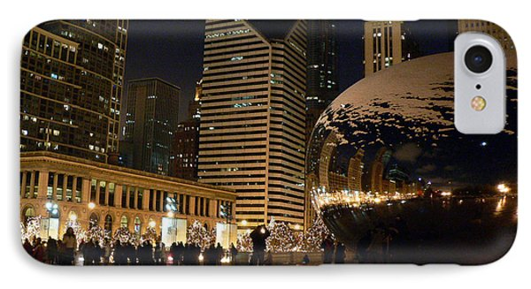 Cloudgate In Snow Phone Case by David Bearden