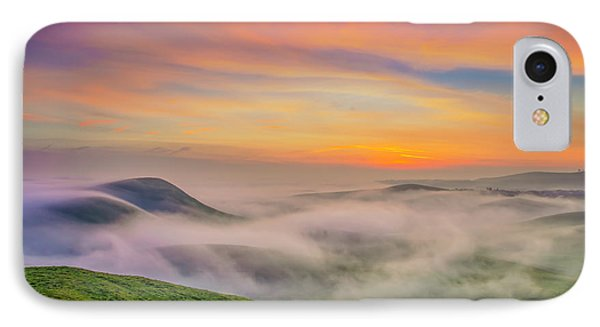 Clouds And Fog At Sunrise IPhone Case by Marc Crumpler