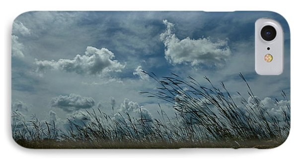 Clouds And Grass IPhone Case by Tim Good