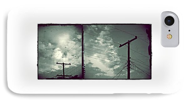 Clouds And Power Lines IPhone Case by Patricia Strand