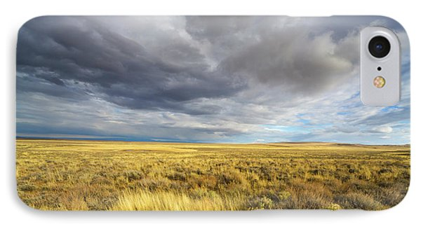Clouds And Prairie Hart Mt N R IPhone Case by Yva Momatiuk John Eastcott
