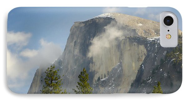 Clouds Around Half Dome  Phone Case by Jim And Emily Bush