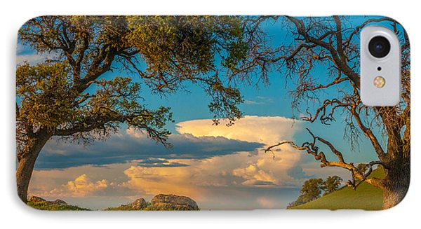 Clouds Between Trees IPhone Case by Marc Crumpler
