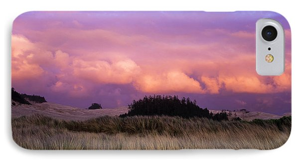 Clouds Catch Light From The Setting Sun IPhone Case by Robert L. Potts