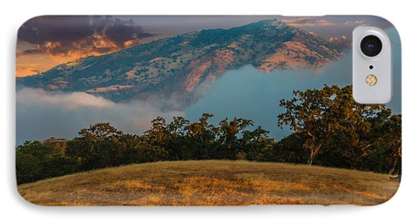 Clouds Fog And Mt Diablo IPhone Case by Marc Crumpler
