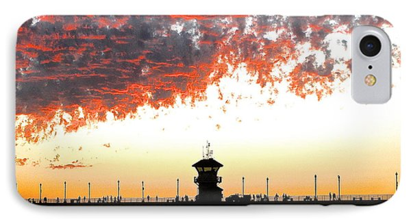 IPhone Case featuring the photograph Clouds On Fire by Margie Amberge