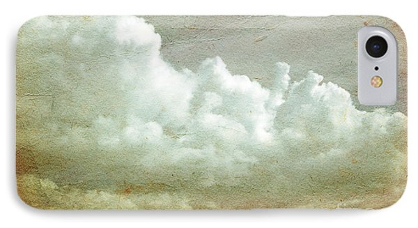 Clouds On Old Grunge Paper Phone Case by Michal Bednarek