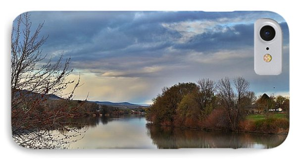 IPhone Case featuring the photograph Clouds On The River 2 by Lynn Hopwood