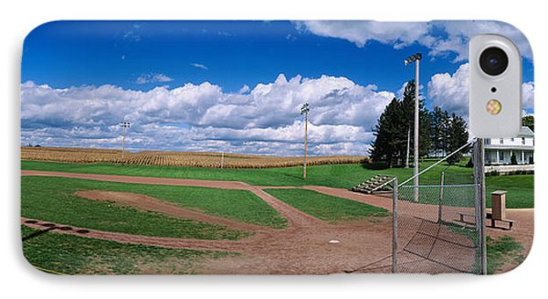 Clouds Over A Baseball Field, Field IPhone Case by Panoramic Images