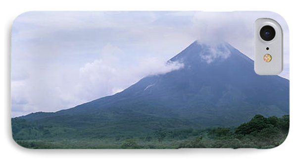 Clouds Over A Mountain Peak, Arenal IPhone Case by Panoramic Images
