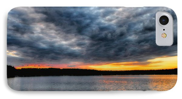 IPhone Case featuring the photograph Clouds Over Big Twin Lake by Trey Foerster