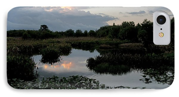 Clouds Over Green Cay Wetlands Phone Case by Mark Newman
