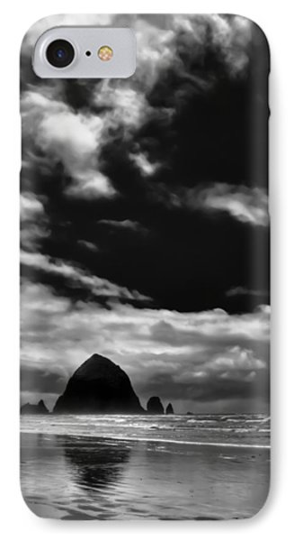Clouds Over Haystack Rock On Cannon Beach Phone Case by David Patterson