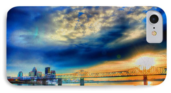 Clouds Over Louisville IPhone Case by Darren Fisher