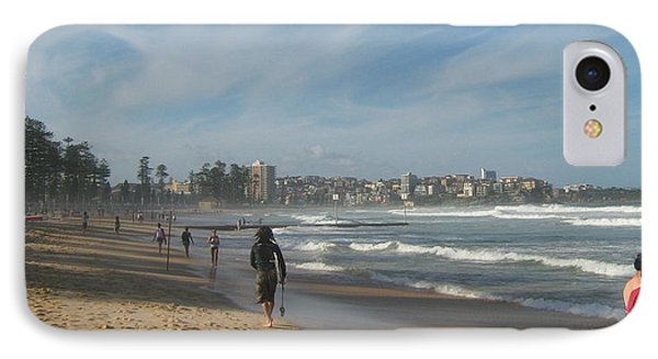 IPhone Case featuring the photograph Clouds Over Manly Beach by Leanne Seymour
