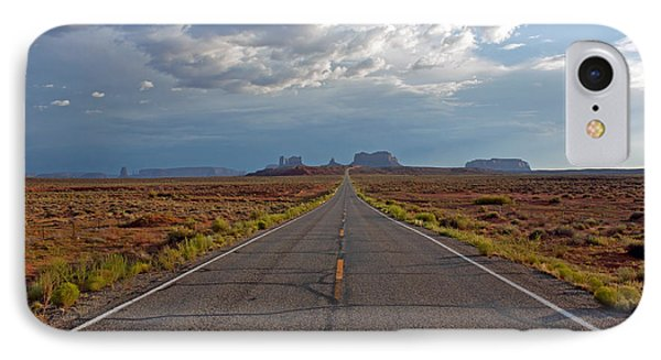 Clouds Over Monument Valley Phone Case by Chris Flack Desert Images