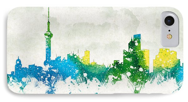 Clouds Over Shanghai China Phone Case by Aged Pixel
