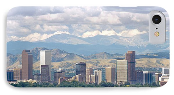 Clouds Over Skyline And Mountains IPhone Case by Panoramic Images