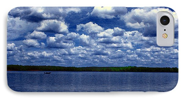 Clouds Over The Catawba River IPhone Case by Andy Lawless