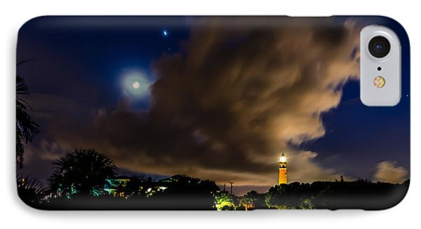 Clouds Over The Lighthouse IPhone Case by Alan Marlowe