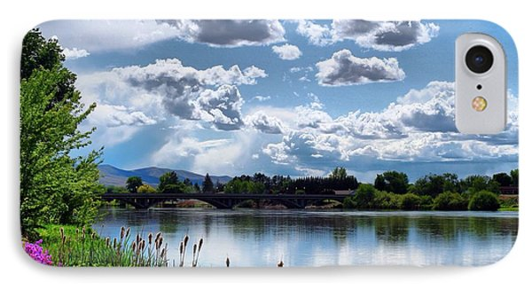 Clouds Over The River IPhone Case by Lynn Hopwood