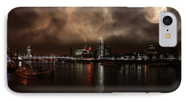 Clouds Over The River Thames IPhone Case by Doc Braham
