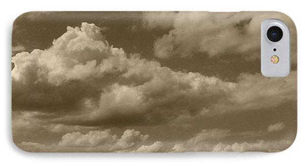 Cloudscape In Sepia Phone Case by Suzanne Gaff