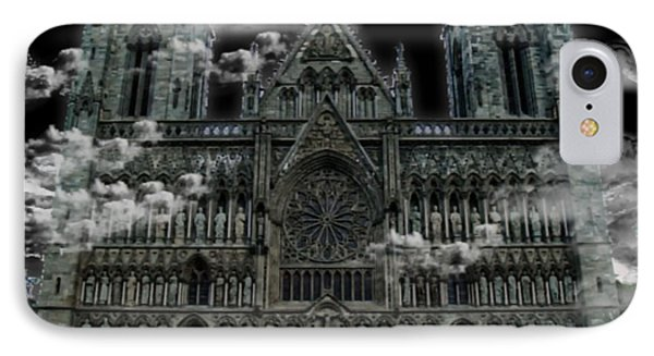 IPhone Case featuring the photograph Cloudy Cathedral by Digital Art Cafe