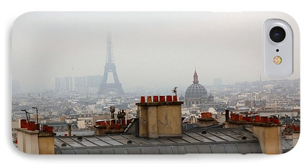 Cloudy Day In Paris Phone Case by Peter Cassidy