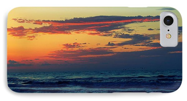 Cloudy Pink Ocean IPhone Case by Candice Trimble