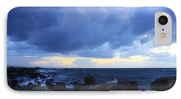 Cloudy Sky Over Sea IPhone Case by Mohamed Elkhamisy
