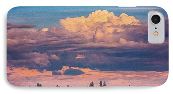 Cloudy Sunset IPhone Case by Omaste Witkowski