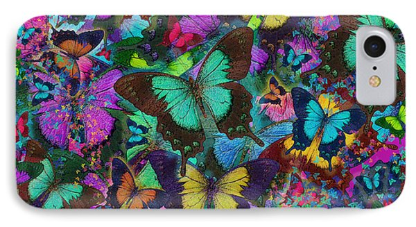 Cloured Butterfly Explosion Phone Case by Alixandra Mullins
