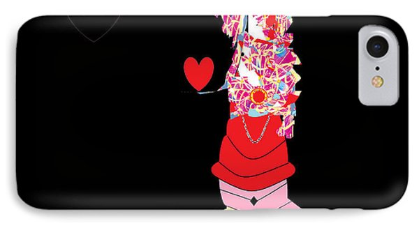 Clown Love IPhone Case by Ann Calvo