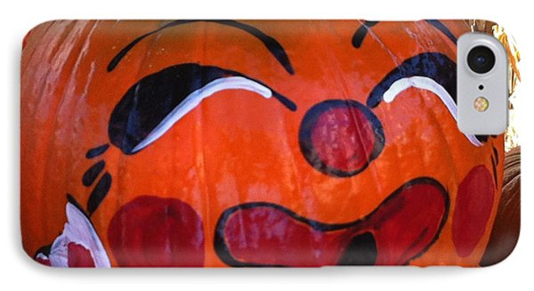 IPhone Case featuring the photograph Clown Pumpkin by Denyse Duhaime