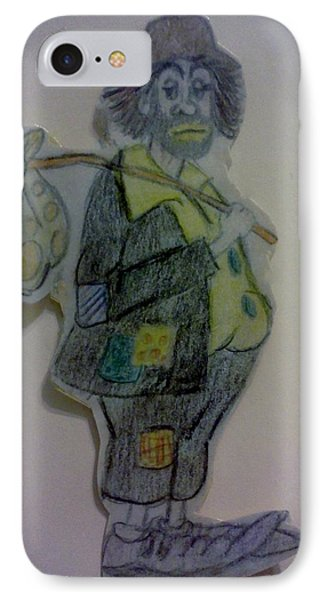 IPhone Case featuring the drawing Clown With A Bag by Christy Saunders Church