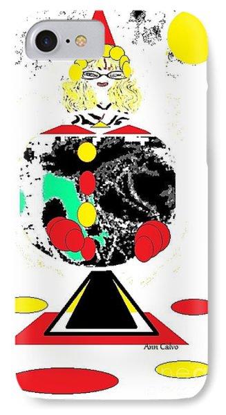 Clowning  Around 2 IPhone Case by Ann Calvo
